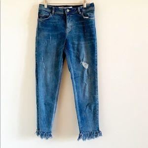 LCW Jeans Mercury Fringe Mid Rise Jeans Size 30